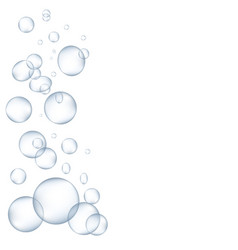 white water bubbles with reflection set vector image