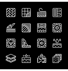 Set line icons of floor vector
