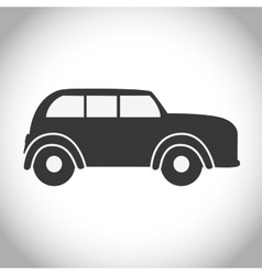 Black and isolated car design vector