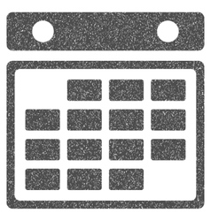 Month calendar grainy texture icon vector