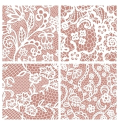 Set of lacy patterns vector