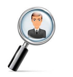 searching for job vector image