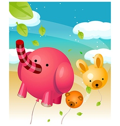 Animal shape balloons vector
