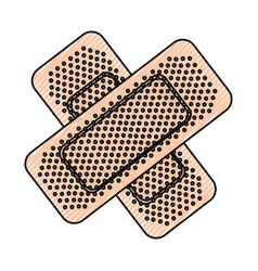 Scribble bandage plaster cartoon vector
