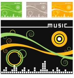Music backgrounds vector