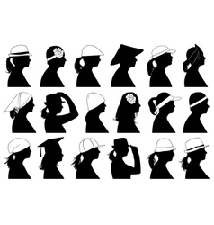 Women profiles vector