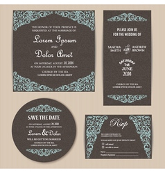 Invitation set dark vector