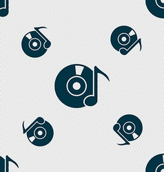 Cd or dvd icon sign seamless pattern with vector