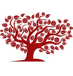 Spring branchy tree with beautiful blosso vector