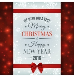 Merry christmas and happy new year text label vector