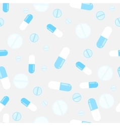 Medicine pills seamless pattern pills vector