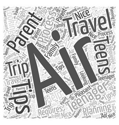 Air travel tips for parents with teens word cloud vector