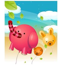 Animal shape balloons vector image vector image