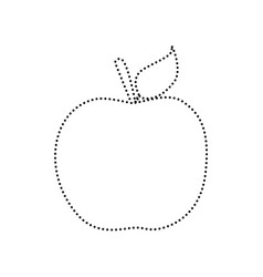 Apple sign black dotted icon vector