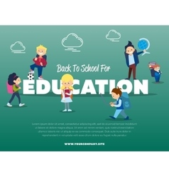 Back to school for education banner vector image vector image