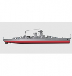 battleship vector image