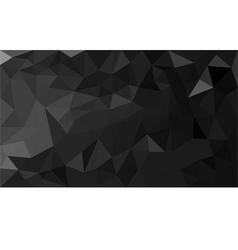 Black polygon background vector