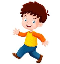 boy funny vector image