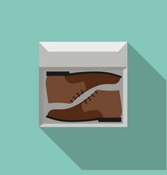 brown shoes in box vector image vector image