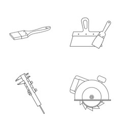 Brush spatula caliper hand circular build and vector