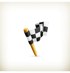 Checkered flag icon vector