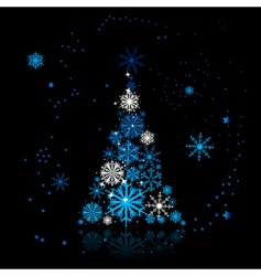 Christmas tree beautiful vector image vector image
