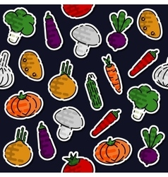 Colored vegetables pattern vector image