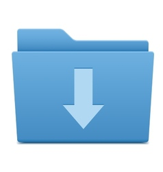 Computer folder with download symbol vector