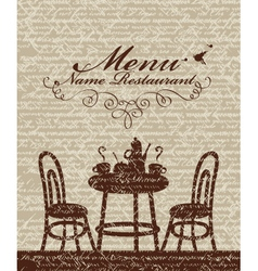 Cover for a menu vector image vector image