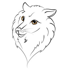 cute wolf portrait vector image vector image