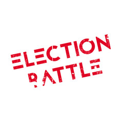 election battle rubber stamp vector image