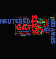 Good reasons to have your cat spayed or neutered vector