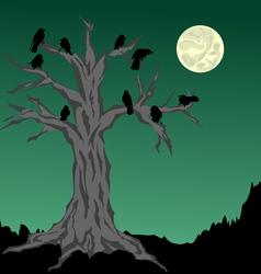 Halloween tree vector image vector image