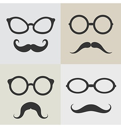 images of glasses and mustaches vector image