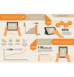 Infographic visualization of usability tablet pc vector image vector image
