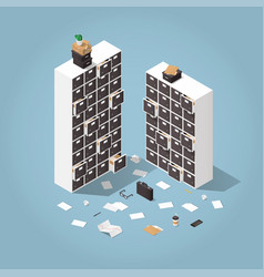 information storage isometric vector image