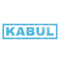 Kabul Rubber Stamp vector image