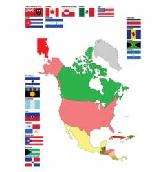 map of north america vector image vector image