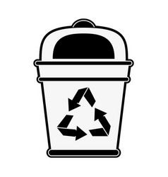 recycle trash can vector image vector image
