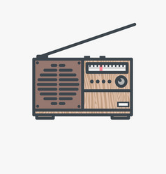 Retro fm radio receiver vector