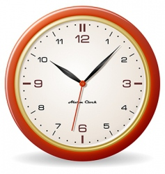retro style clock vector image vector image