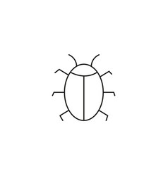 Software bug or program bug line art icon for vector