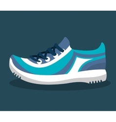 Sport tennis shoes isolated icon vector