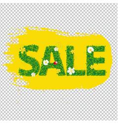 summer sale banner blots for design vector image vector image