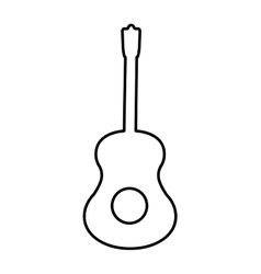 Guitar instrument music icon graphic vector