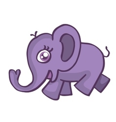 Elephant smiling cartoon vector