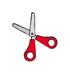 Scissor school utensil vector