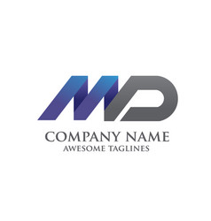 Elegant md letter logo vector