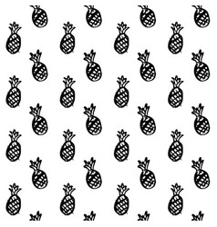 Pineapple brush seamless pattern vector