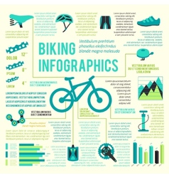 Bike icons infographic vector
